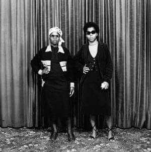 [Two women wearing western attire], 1981