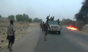 Footage showing a recent Boko Haram attack in north-east Nigeria.