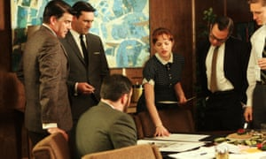Scene from Mad Men, the TV series set in a 1960s advertising agency