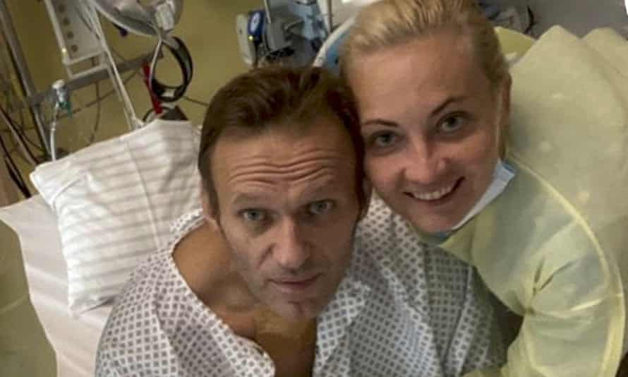 Alexei Navalny at Charité hospital in Berlin