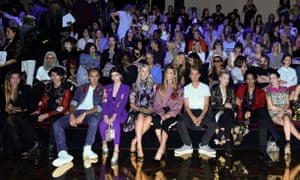 The Frow at Dolce & Gabbana's Milan show – the fashion house flew in a host of millennial celebrities.