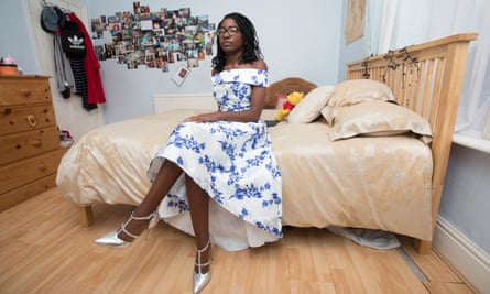 'I saw this off-the-shoulder one and thought, I need that in my life' ... Nzinga Banjoko at home in Sheffield.
