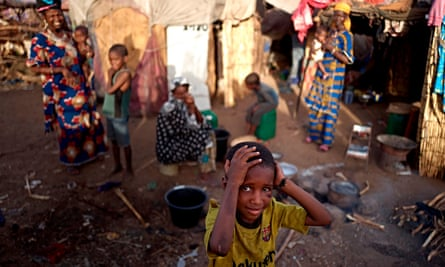 Camp for internal displaced people in Bamako