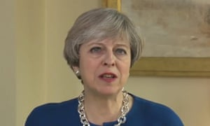 Theresa May delivers her Easter Sunday address