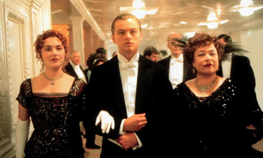 Bates in Titanic with Leonardo DiCaprio and Kate Winslet.