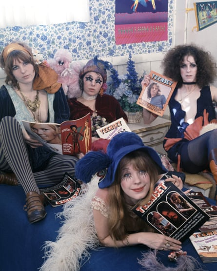Girls in the band: the GTOs, Los Angeles, 1969 (Pamela is in front).