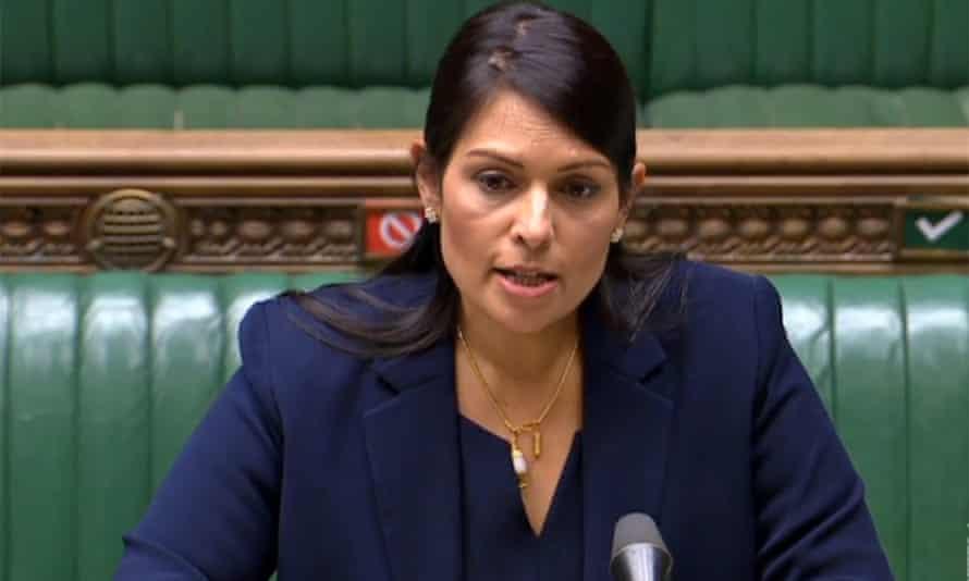 Home secretary Priti Patel.