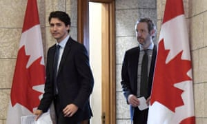 Justin Trudeau and Gerald Butts, who denies allegations of political meddling