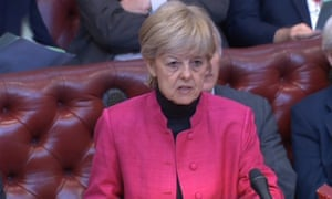 The Labour peer Dianne Hayter in the House of Lords