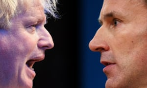 Boris Johnson and Jeremy hunt profile composite.
