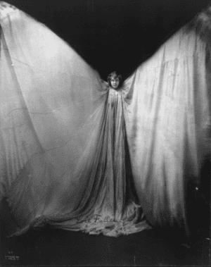 Flying tonight … Loie Fuller, who mesmerised audiences at the Folies Bergère.