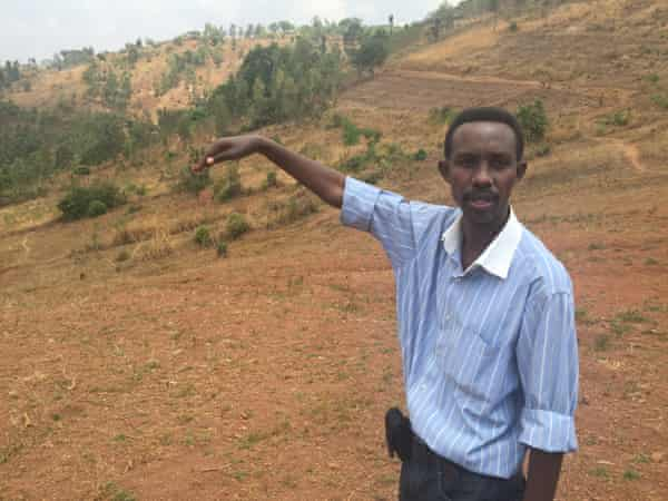 Site manager Prosper Ndayishimiye at site 4 Solar farm project in Burundi