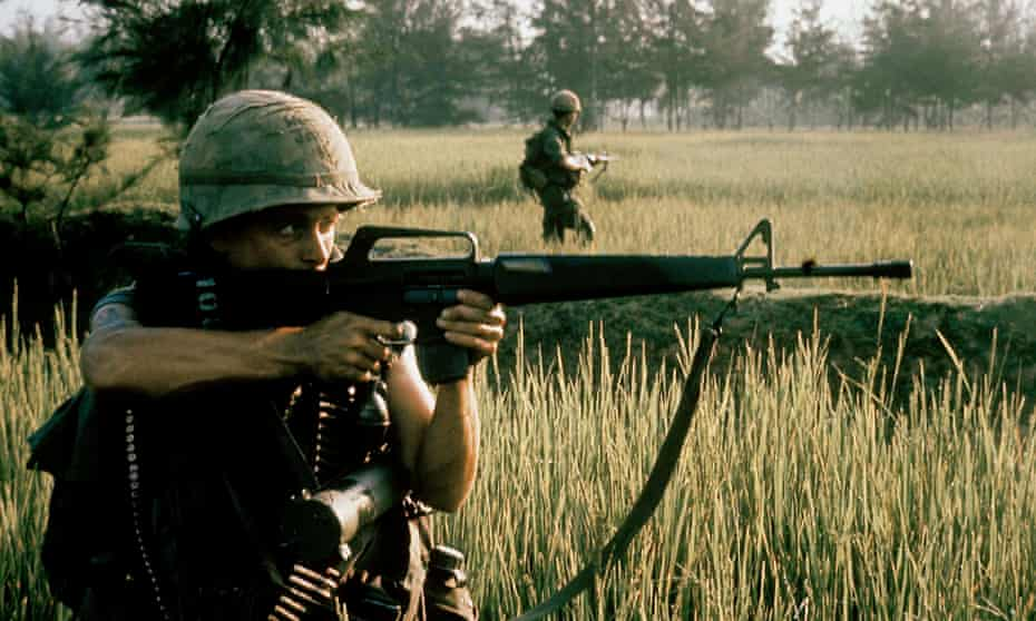 American soldier firing during My Lai massacre in Vietnam, 16 March 1968