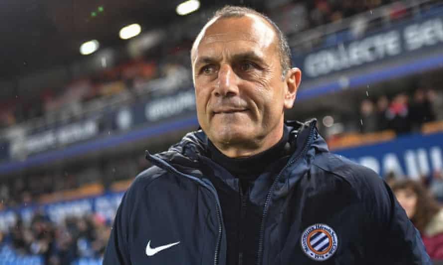 Montpellier manager Michel Der Zakarian.