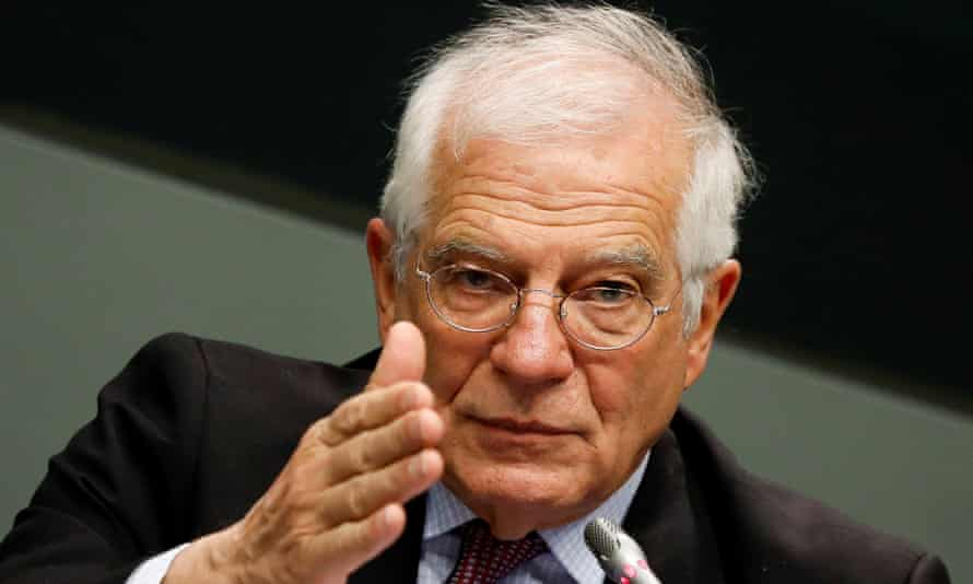 Josep Borrell at the UN climate change conference in Madrid last month.