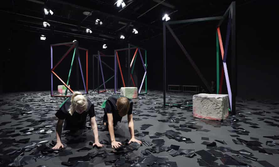 A Setup, 2015, by Eva Rothschild and Joe Moran.