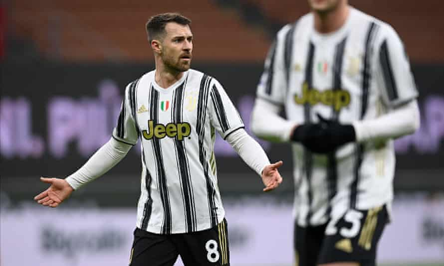 Aaron Ramsey, playing here against Milan in January, has struggled with injuries at Juventus.