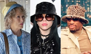 Buckets of style … Meryl Streep (in The Laundromat), Billie Eilish and Dennis Rodman.