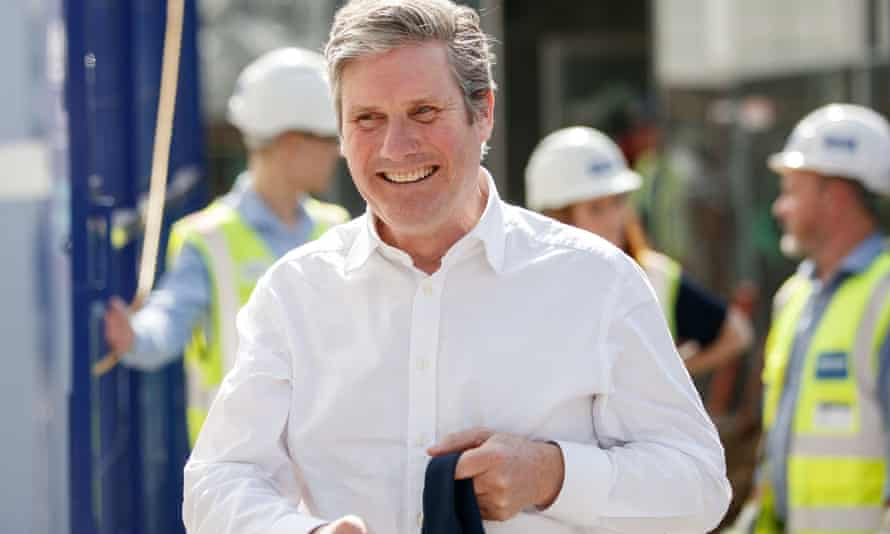 Keir Starmer on the local elections campaign trail in Sheffield.