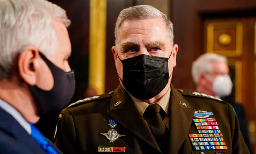 Gen Mark Milley, chairman of the Joint Chiefs of Staff, seen on Capitol Hill on Wednesday.