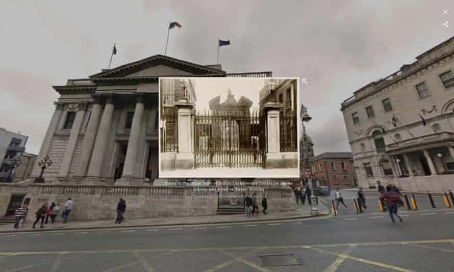 Screengrab of an image of Dublin City Hall from the Google Maps' Dublin tour
