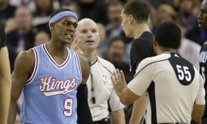 Rondo, left, has been suspended for one game by the NBA for his homophobic remarks to Bill Kennedy.