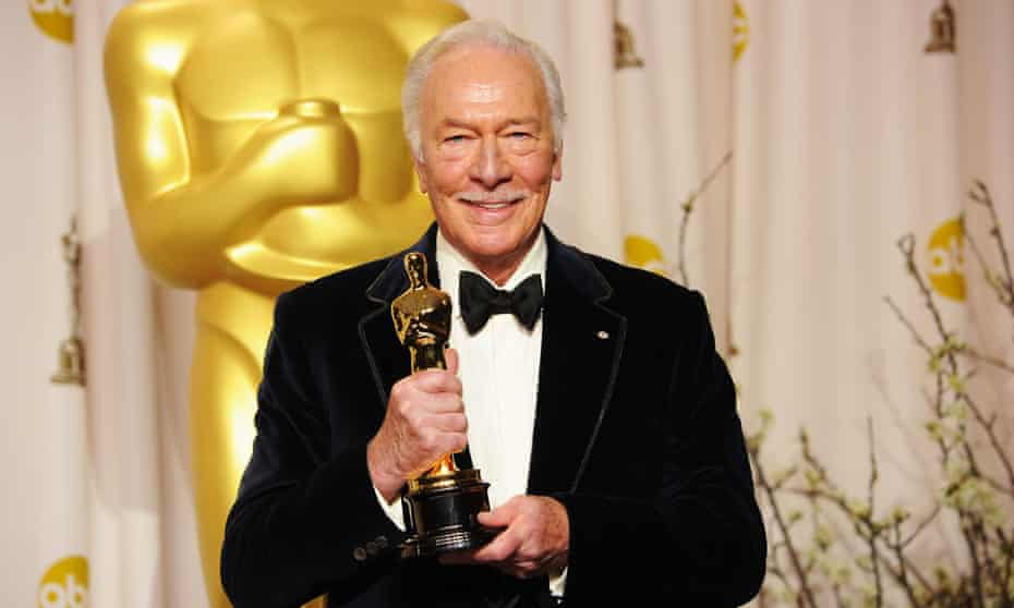 Plummer, with his best supporting actor Oscar for his role in Beginners, 2012.