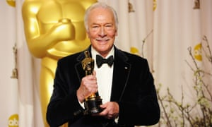 Christopher Plummer with his Best Supporting Actor Oscar for Beginners at the 84th Annual Academy Awards held at the Hollywood and Highland Centre on 26 February 2012 in California.
