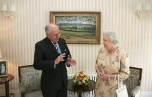 John Howard with the Queen in 2006 at Government House in Canberra.