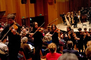 The National Youth Orchestra of Great Britain taking over the Barbican last weekend.