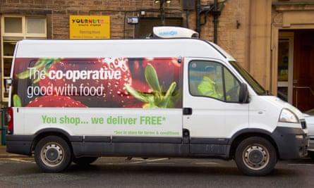 A Co-op delivery van