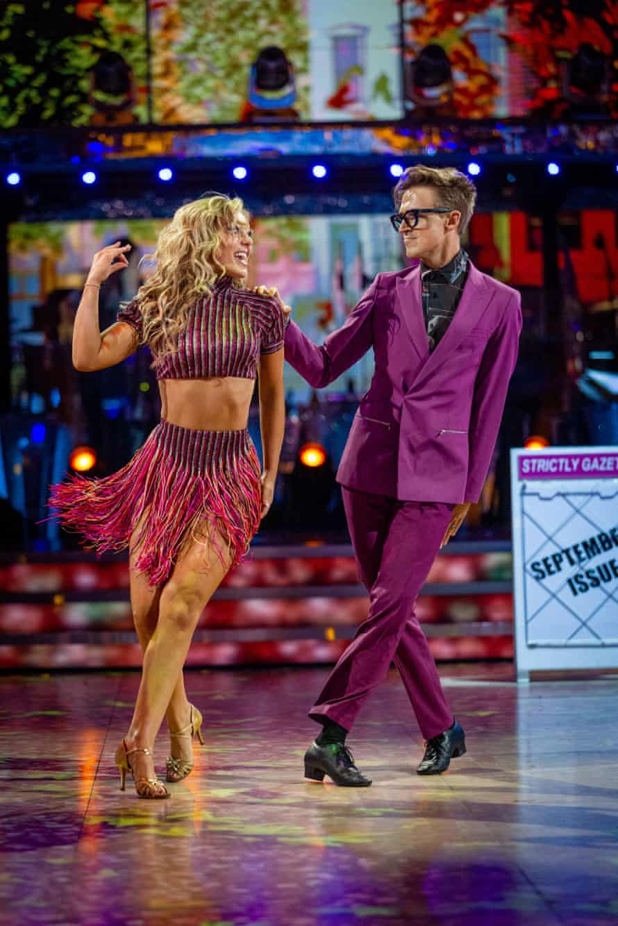 Fletcher and Dowden dancing the cha-cha on Saturday's live show.