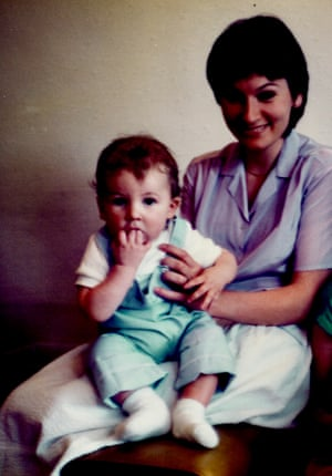 Eleanor Margolis's mother, with her one-year-old brother
