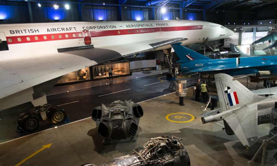 BAC Concorde 002 at the Fleet Air Arm Museum, Yeovilton,Somerset.