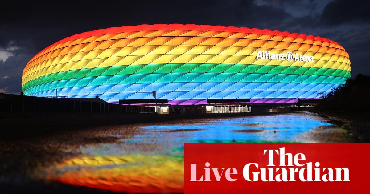 Euro 2020: Uefa blocks rainbow light display at Germany v Hungary – live!