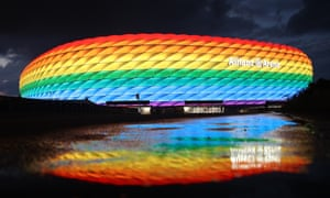 Munich's mayor had hoped to light the Allianz Arena in rainbow colours for Germany's game against Hungary.