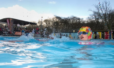 Tooting Lido pictured during the seventh UK Cold Water Swimming Championships earlier this year.