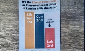 A Lib Dem leaflet from Cities of London and Westminster.