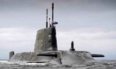 An Astute-class submarine