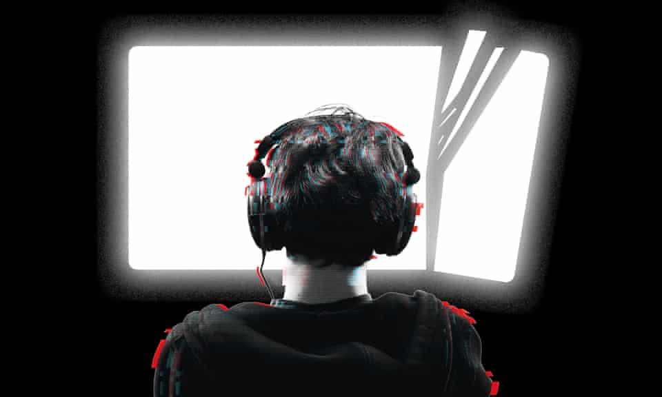 Boy at a computer screen