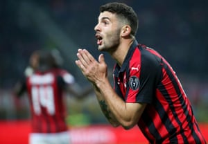 Frustration for Milan's Patrick Cutrone.
