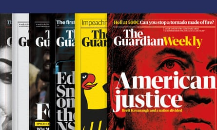 front pages of Guardian Weekly magazines.