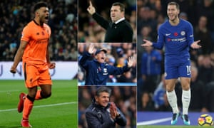 Liverpool's Alex Oxlade-Chamberlain has turned a corner; contrasting fortunes for Everton's David Unsworth, West Brom's Tony Pulis and Leicester's Claude Puel; and Eden Hazard was repeatedly fouled against Manchester United.
