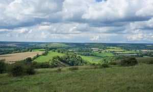View from Butser Hill in the South Downs National Park