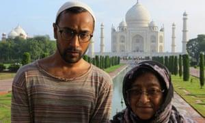 Rhik Samadder with his mother – 'the book's heroine' – at the Taj Mahal.