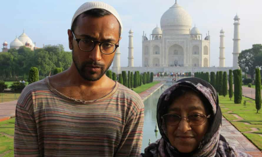 Rhik Samadder with his mother – 'the book's heroine' – at the Taj Mahal.