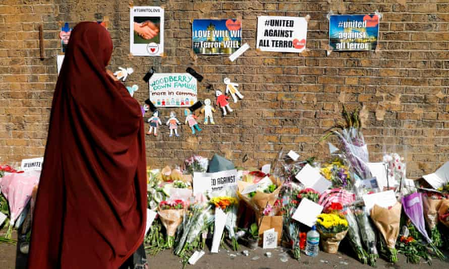Flowers and tributes in Finsbury Park