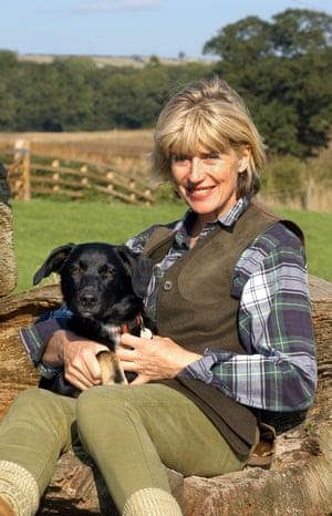 Selina Scott on her farm in Yorkshire