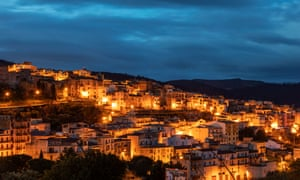 Sambuca, seen here at sunrise, sits on a hill above the Belice valley about an hour from Palermo.