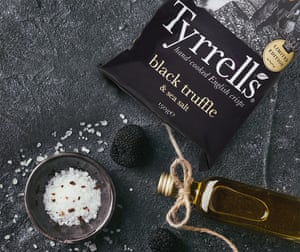 Tyrells' limited-edition black truffle and sea salt flavour crisps